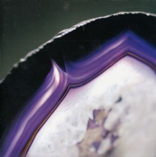 Gemstone  Blank Greetings Card - Purple Agate (Gem03)